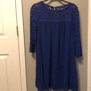 As U Wish Royal Blue Dress